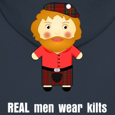 REAL men wear kilts! Funny Scottish Hoodie