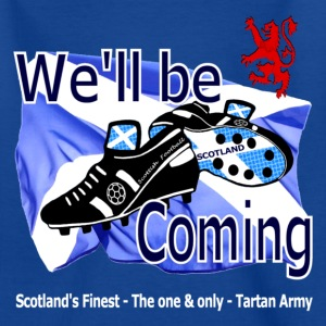Tartan Army We'll be Coming Scottish kids Classic - Teenage T-shirt