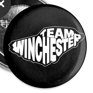 Team Winchester (dark) Buttons - Buttons large 56 mm