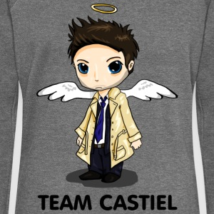 Team Castiel (light) Hoodies & Sweatshirts - Women's Boat Neck Long Sleeve Top