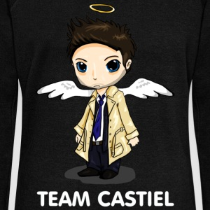 Team Castiel (dark) Hoodies & Sweatshirts - Women's Boat Neck Long Sleeve Top