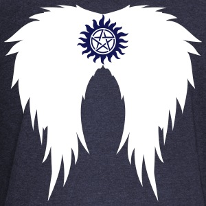 Supernatural wings (vector) Hoodies & Sweatshirts - Women's Boat Neck Long Sleeve Top