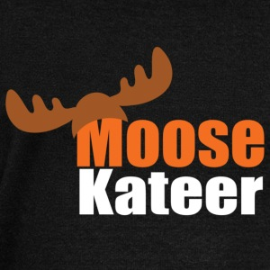 Moose-kateer (dark) Hoodies & Sweatshirts - Women's Boat Neck Long Sleeve Top