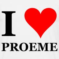 Ontwerp ~ Gronings T-shirt I love proeme / pussy