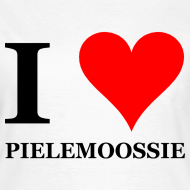 Ontwerp ~ Gronings girlieshirt I love pielemoossie / I love dick