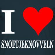 Ontwerp ~ Gronings T-shirt I love Snoetjeknovveln / zoenen