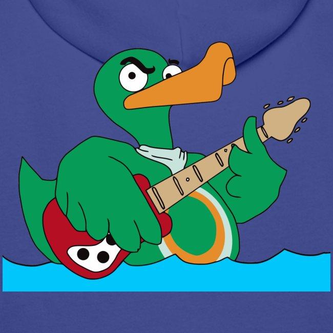 """Rocky"" Kapuzenpullover duck@rock (Logo gelb-weiß)"