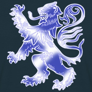 Scottish Lion Rampant with Saltire Flag - Men's T-Shirt