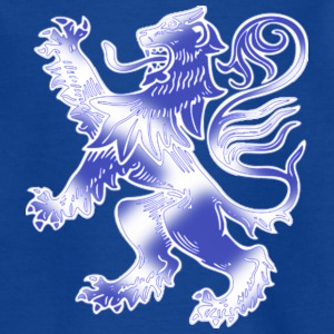 Scottish Lion Rampant with Saltire Flag - Teenage T-shirt