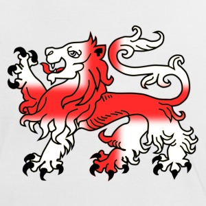 English Lion Passant with St George's Cross - Women's Ringer T-Shirt