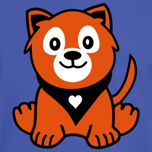 doggy with heart bandana T-Shirts - Männer Kontrast-T-Shirt