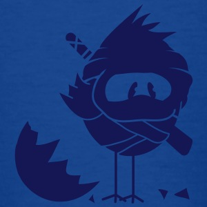 A newly hatched chick in Ninja outfit and a sword on his back Kids' Shirts - Teenage T-shirt
