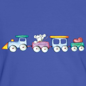 Cute little train T-shirts - Kontrast-T-shirt herr