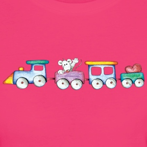 Cute little train T-Shirts - Women's Organic T-shirt