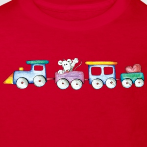 Cute little train Børne T-shirts - Organic børne shirt