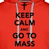 KEEP CALM...MASS - Men's Premium Hoodie