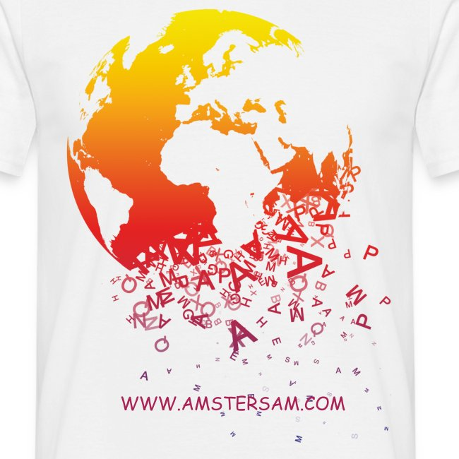Men's Classic T-Shirt 'The World' White/Red