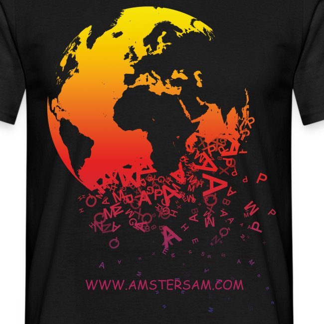 Men's Classic T-Shirt 'The World' Black/Red