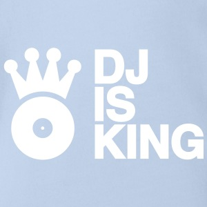 DJ is King Plattenspieler Turntable Schallplatte Schallplattenspieler Vinyl Discjockey club musik so Baby Body - Baby Bio-Kurzarm-Body