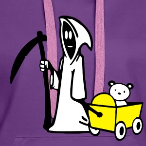 Grim Reaper, Grim Reaper with bear carts Hoodies & Sweatshirts - Women's Premium Hoodie