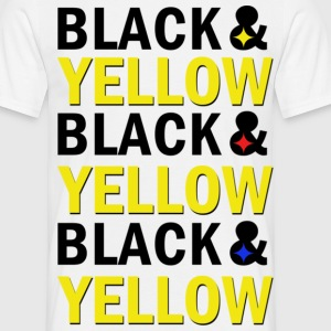 BLACK & YELLOW - Männer T-Shirt