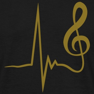 clef_pulse_1c T-shirts - Herre-T-shirt