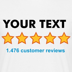 Rate yourself - 5 out of 5 stars- CUSTOMIZE IT! - review - Men's T-Shirt