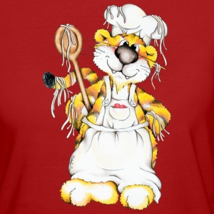 The tiger is cooking spaghetti T-Shirts - Women's Organic T-shirt