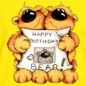 Happy Birthday, Bear T-Shirts - Männer Kontrast-T-Shirt