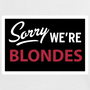 sorry we are blondes T-shirts - T-shirt contraste Femme