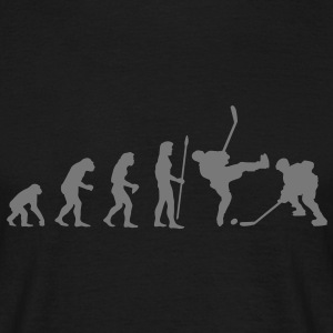 evolution_hockey sur glace T-shirts - T-shirt Homme
