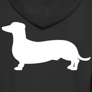 Dachshund Dog Coats & Jackets - Men's Premium Hooded Jacket