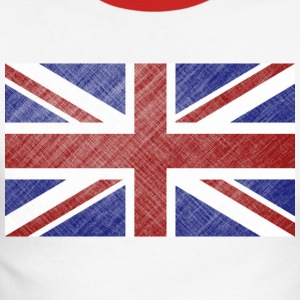 Grunge Union Jack Flag of Great Britain & Northern Ireland - Men's Long Sleeve Baseball T-Shirt