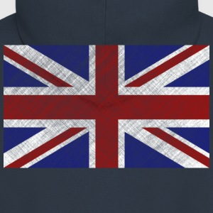 Grunge Union Jack Flag of Great Britain & Northern Ireland - Men's Premium Hooded Jacket