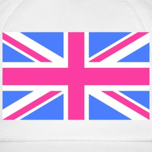 Union Jack Flag in Pink and Blue - Baseball Cap