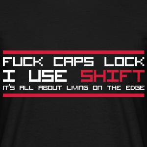 Fuck Caps Lock T-shirts - T-shirt Homme