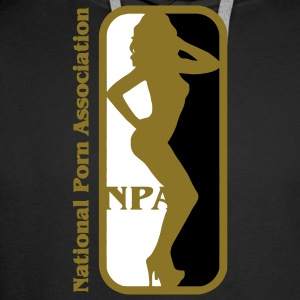 NBA? Pas de NPA - Association nationale des Porn Porn Star Sweat-shirts - Sweat-shirt à capuche Premium pour hommes
