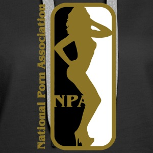 NBA? Ingen NPA - National Association Porn Porn Star Gensere - Premium hettegenser for kvinner