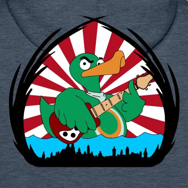 """""""Rocky"""" Kapuzenpullover duck@war (Logo weiß-gelb)"""