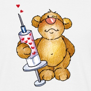 Little Bear and the syringe Camisetas - Camiseta hombre