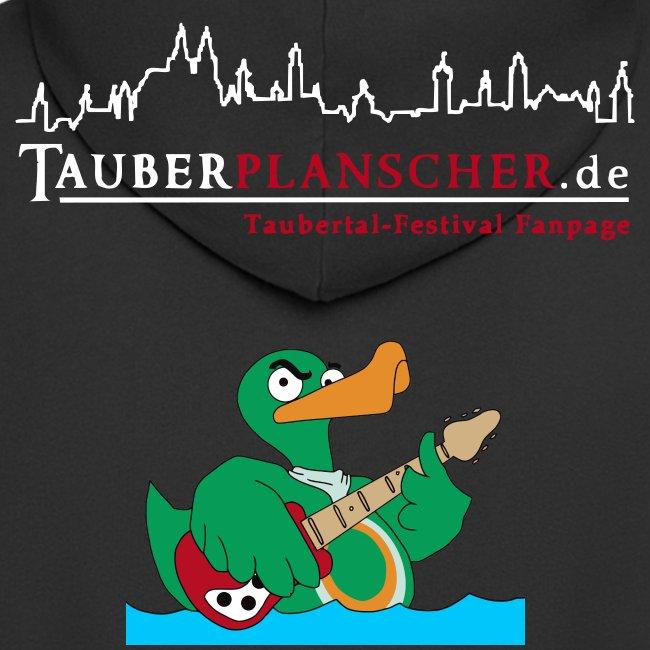 """Rocky"" Kapuzenjacke duck@rock (Logo weiß-rot)"