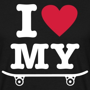 Black Skateboard - I love my skateboard - I heart my skateboard T-Shirts - Men's T-Shirt