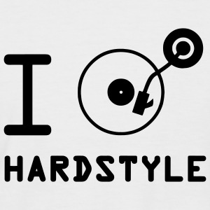 e joue hardstyle / J'aime Hardstyle / DJ  T-shirts - T-shirt baseball manches courtes Homme