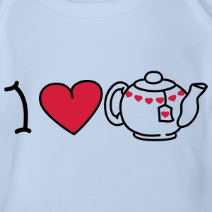 I love tea Baby Bodysuits - Organic Short-sleeved Baby Bodysuit