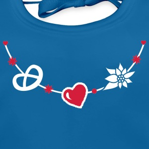 Dirndl jewelry with pretzel, gingerbread heart and Edelweiss Accessories - Baby Organic Bib