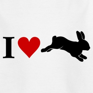 I love Bunnies Hase Kaninchen - Teenager T-Shirt