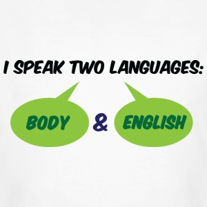 I Speak Two Languages 1 (dd)++ T-shirts - Organic mænd