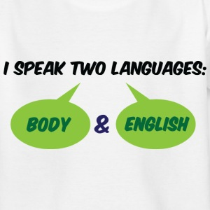 I Speak Two Languages 1 (dd)++ Kids' Shirts - Teenage T-shirt