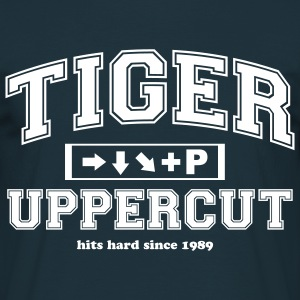 Tiger Uppercut - White on Navi - Männer T-Shirt