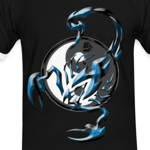 scorpion tribal Yin et yang By CustomStyle T-shirts - T-shirt contraste Homme